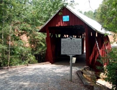 Campbell�s Covered Bridge and Marker Photo, Click for full size