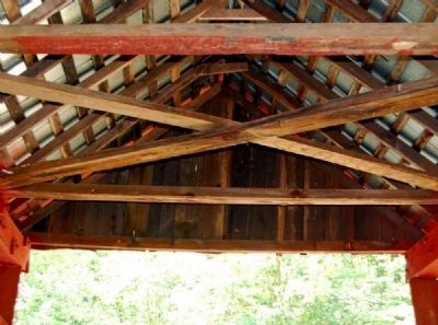 Campbell�s Covered Bridge Interior Roof Photo, Click for full size