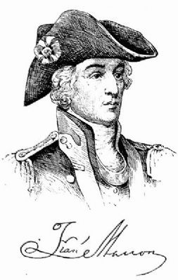 "Brigadier General Francis Marion ""The Swamp Fox"" image. Click for full size."