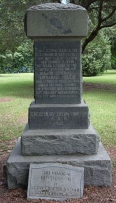 Battle of Eutaw (Springs) as mentioned image. Click for full size.