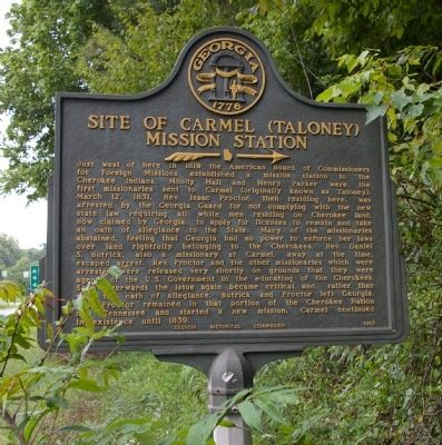 Site of Carmel (Taloney) Mission Station Marker image. Click for full size.
