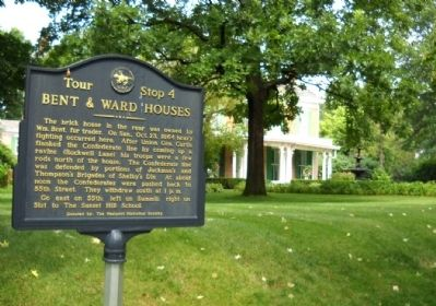 Bent & Ward Houses Marker image. Click for full size.