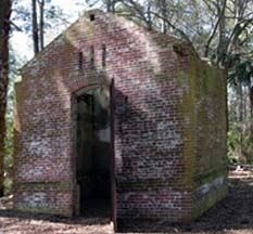 Lighthouse Keepers Oil House, oldest surviving structure on Parris Island image. Click for full size.