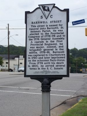Barnwell Street Marker Photo, Click for full size