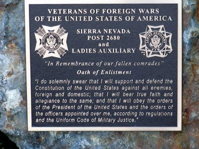 Veterans of Foreign Wars Plaque at Entrance to Monument image. Click for full size.