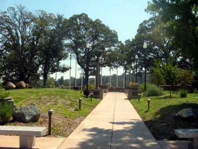 Entrance to the El Dorado County Veterans Monument image. Click for full size.