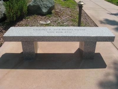 Memorial Bench at Entrance to Monument (Left Side) image. Click for full size.