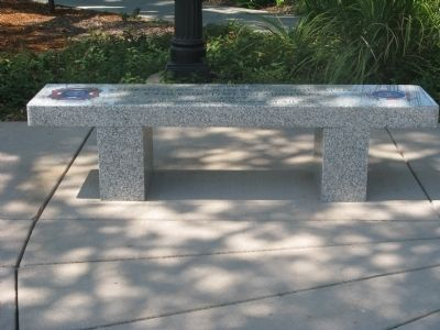 Veterans of Foreign Wars Memorial Bench image. Click for full size.