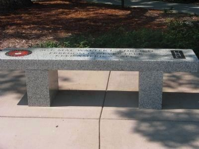 Sgt. Maj. Walter L. Ehrlich Memorial Bench image. Click for full size.