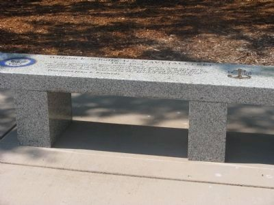 William E. Schultz, U.S. Navy (ACC) Ret. Memorial Bench image. Click for full size.