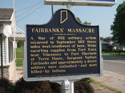 Fairbanks' Massacre Marker image. Click for full size.