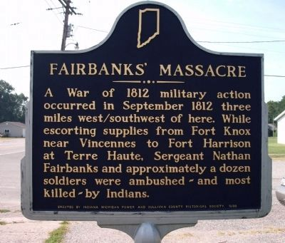 Reverse Side - A Twin Fairbanks' Massacre Marker image. Click for full size.