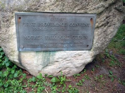 Site of First Providence Convent Marker image. Click for full size.