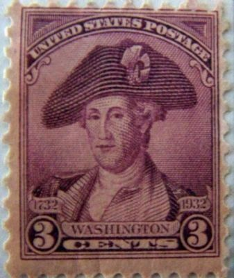 General Washington Commemorative 3� Stamp , from Bicentennial series image. Click for full size.
