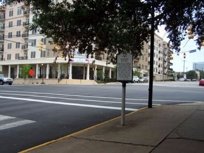 Blossom Street Marker, looking north at intersection image. Click for full size.