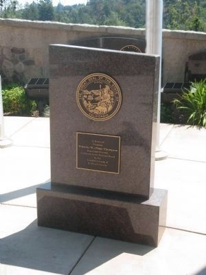 Plaque Placed at California National Guard Flag Pole image. Click for full size.