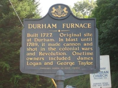 Durham Furnace Marker image. Click for full size.