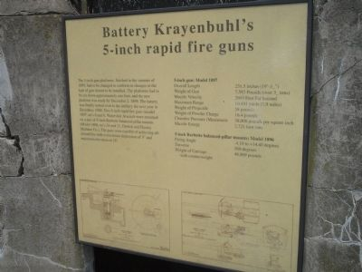 Battery Krayenbuhl's 5-inch rapid fire guns Marker image. Click for full size.