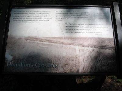 Hamilton's Crossing Marker image. Click for full size.