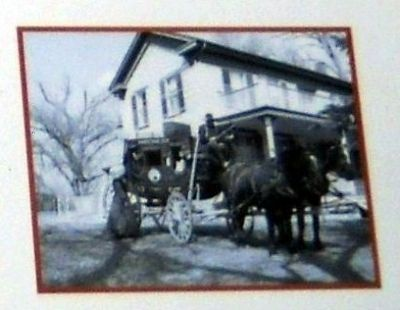Close-Up of Photo on Marker - Mahaffie Stagecoach Stop image. Click for full size.