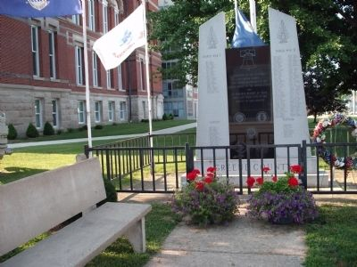 Front - Full View - - Greene County ( Indiana ) War Memorial Marker image. Click for full size.