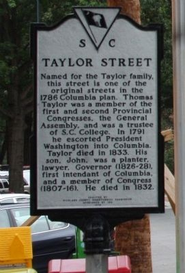 Taylor Street Marker, front view image. Click for full size.