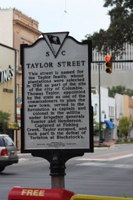 Taylor Street Marker, reverse text image. Click for full size.
