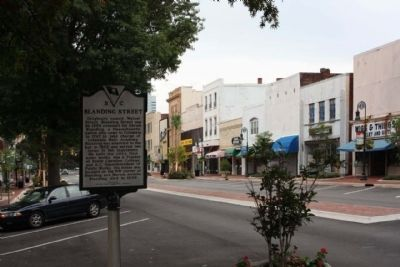 Blanding Street Marker, looking south along Main Street image. Click for full size.