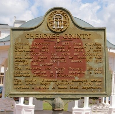 Cherokee County Marker image. Click for full size.