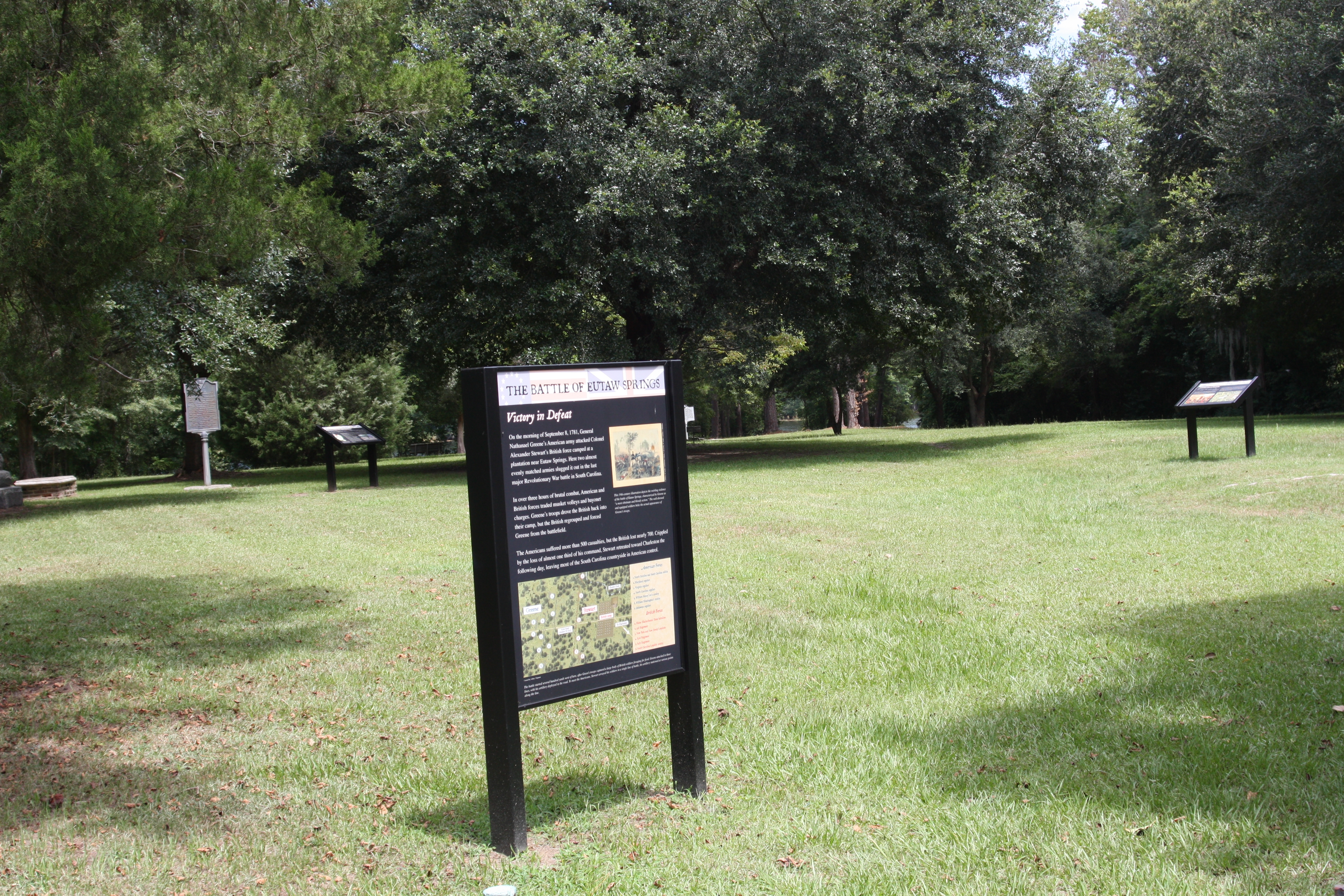 Battle of Eutaw Springs Marker
