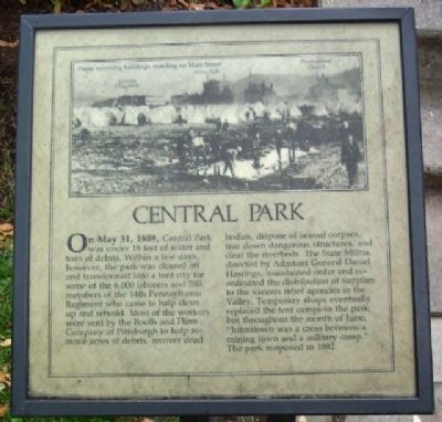 Central Park Marker image. Click for full size.