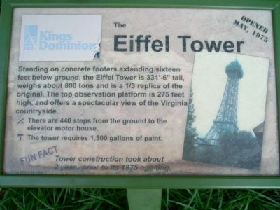 The Eiffel Tower Marker image. Click for full size.