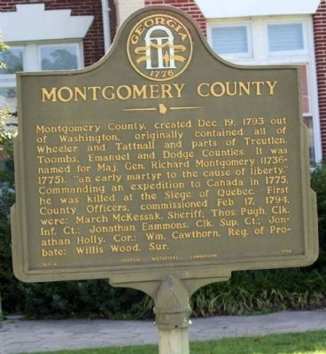 Montgomery County Marker image. Click for full size.
