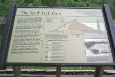 The South Fork Dam Marker image. Click for full size.