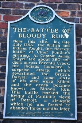 The Battle of Bloody Run Marker image. Click for full size.