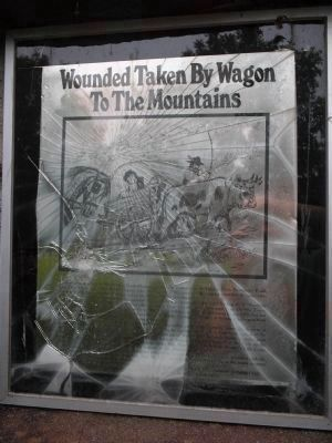 Wounded Taken by Wagon to the Mountains Panel Photo, Click for full size