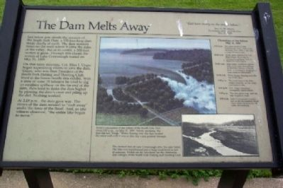 The Dam Melts Away Marker image. Click for full size.