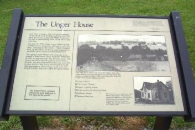 The Unger House Marker image. Click for full size.