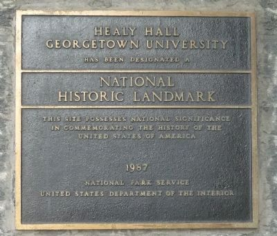 Healy Hall Marker - Panel 2 image. Click for full size.