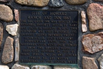 Site of Howard Ranch and Inn 1865 Marker image. Click for full size.