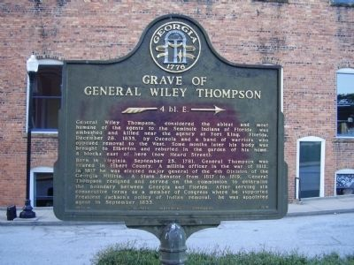 Grave of General Wiley Thompson Marker image. Click for full size.