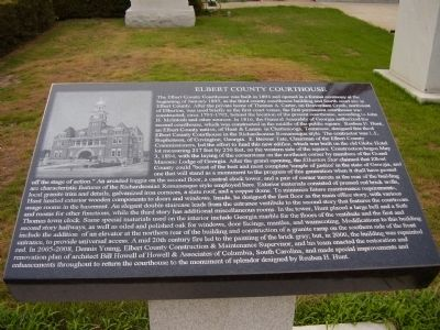 Elbert County Courthouse Marker Photo, Click for full size