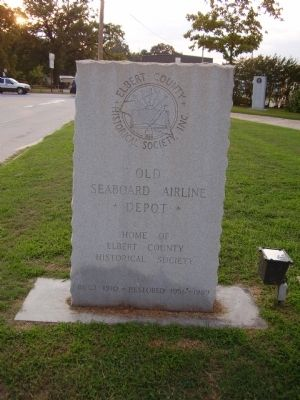 Old Seaboard Airline Depot Marker Photo, Click for full size