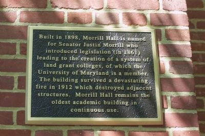 Morrill Hall Marker image. Click for full size.