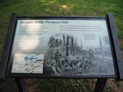 Jackson Holds Prospect Hill Marker image. Click for full size.