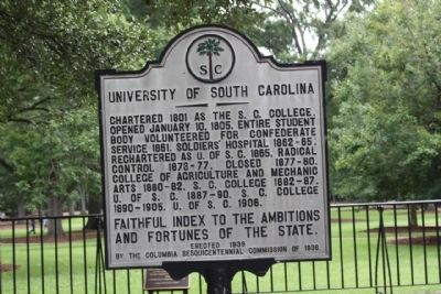 University of South Carolina Marker image. Click for full size.