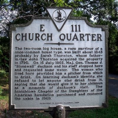 Church Quarter Marker image. Click for full size.