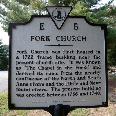 Fork Church Marker Photo, Click for full size