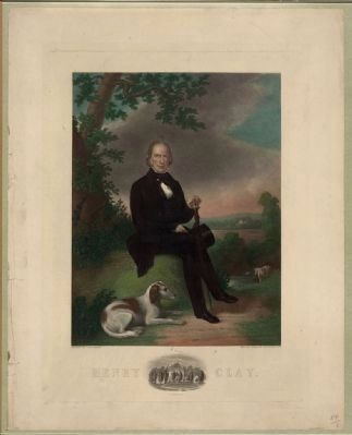 Henry Clay painted by J.W. Dodge (engraving). image. Click for full size.