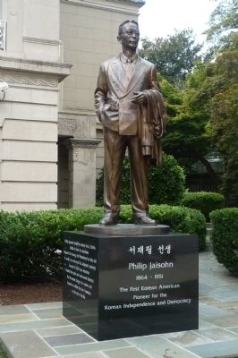 Dr. Philip Jaisohn, 1864-1951 - Statue at Embassy of Korea, Washington, D.C. Photo, Click for full size